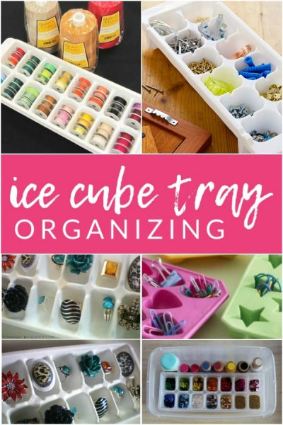 These ice cube tray organizing hacks are pure genius. Who knew so many organizing solutions could be found with an inexpensive and simple ice cube tray?