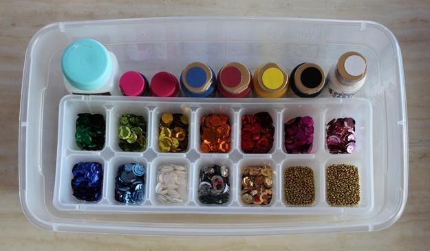ice cube tray organization