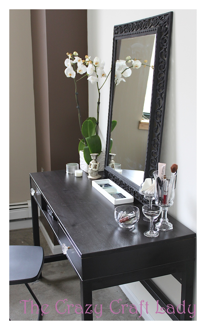 size 40 e37d7 021bc Ikea Desk vanity - How to Turn an Inexpensive Desk into a ...