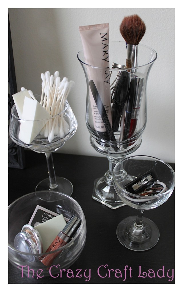 What a great idea! Turn an inexpensive Ikea desk into a beautiful, organized vanity.
