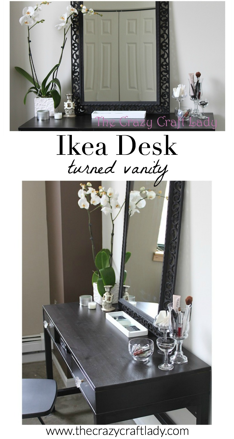 Turn An Inexpensive Ikea Desk Into A Beautiful Organized Vanity