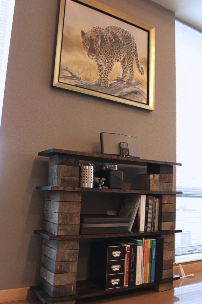 DIY Concrete Block Bookshelf - The Crazy Craft Lady