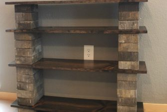 DIY Concrete Block Bookshelf