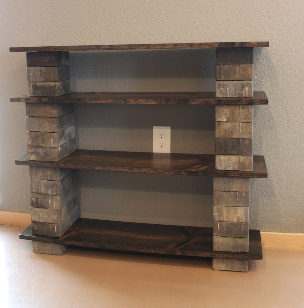 Cinder Block Shelves Diy Concrete Block Bookshelf The