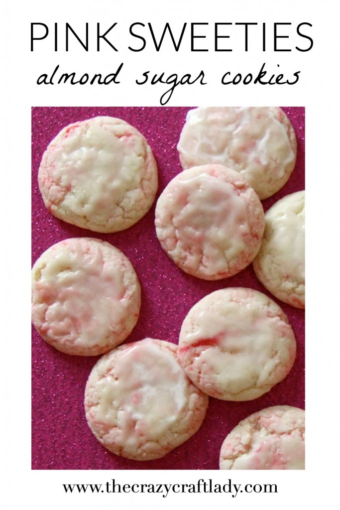 "These cookies are seriously ADDICTING! ""Pink Sweeties"" are pink and white almond swirl cookies that are melt in your mouth delicious. They are probably my favorite cookie recipe ever!"
