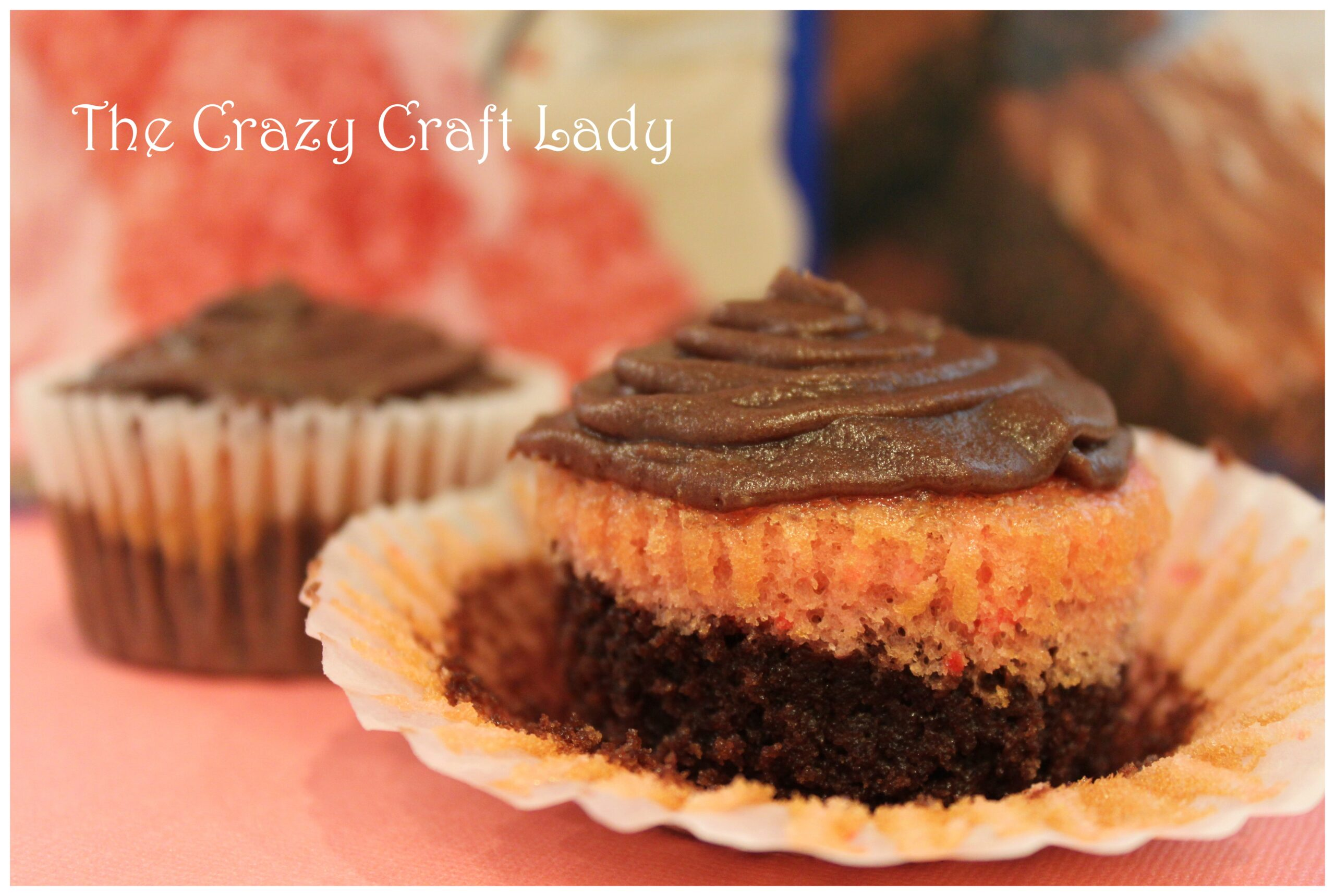"""homemade"" chocolate strawberry cupcakes"