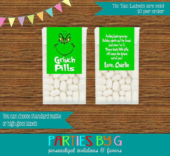 Grinch Pills - fabulous Grinch crafts and sweet treats for Christmas