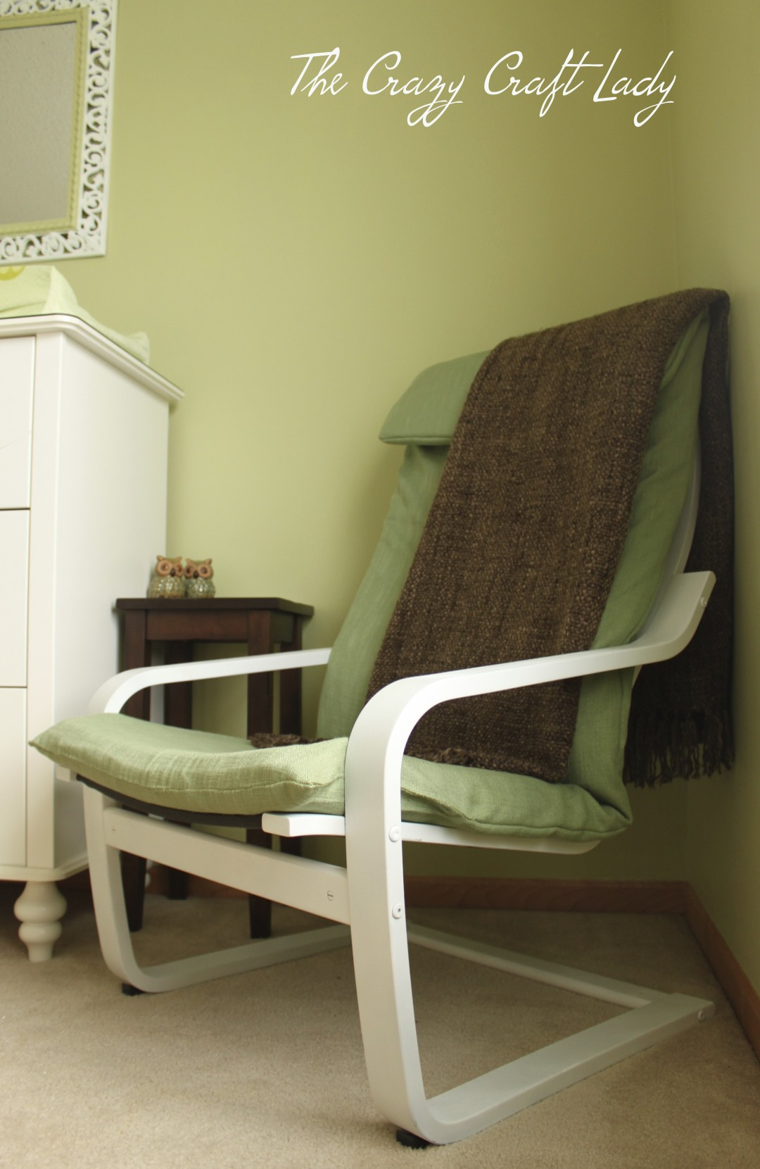 ... Ikea Poang chair. Save & nursery ikea chair recover - The Crazy Craft Lady