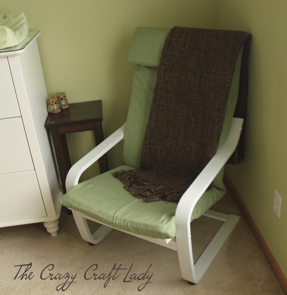 nursery ikea chair recover: How to re-cover and Ikea Poang chair.