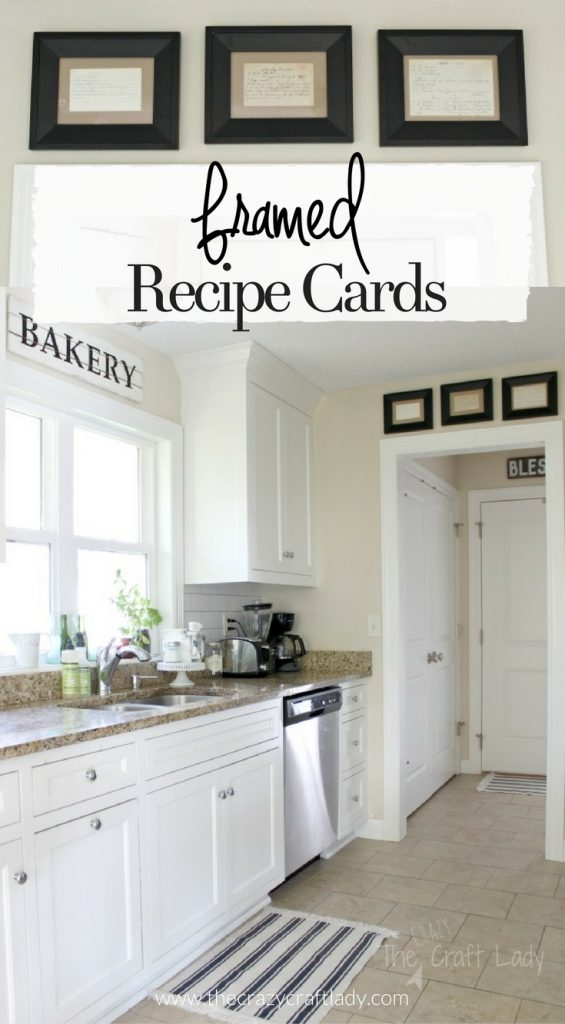 display favorite family recipes for sentimental kitchen wall decor