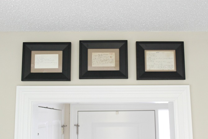 Framed Recipe Cards