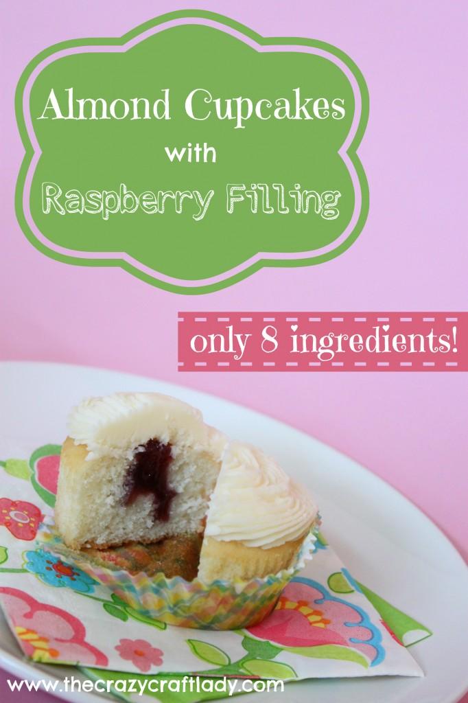 Almond Raspberry Cupcakes