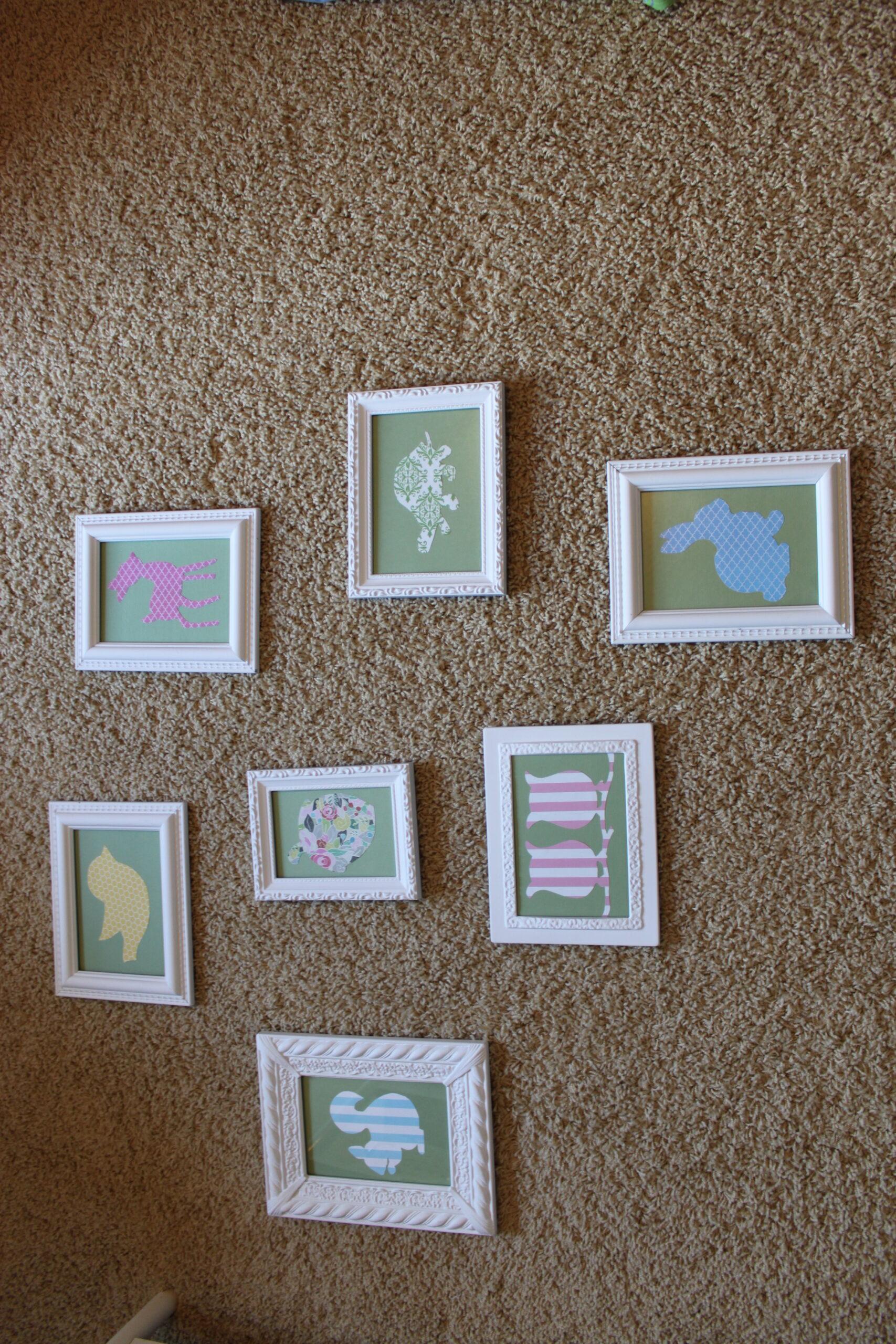silhouette nursery art