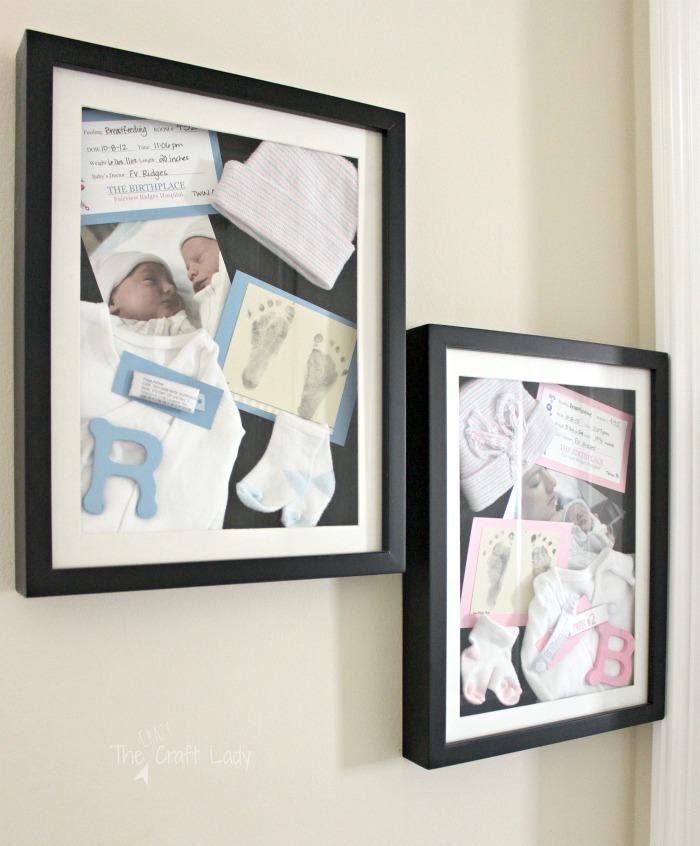 DIY Newborn Shadow Boxes - a Memorable DIY - The Crazy Craft Lady