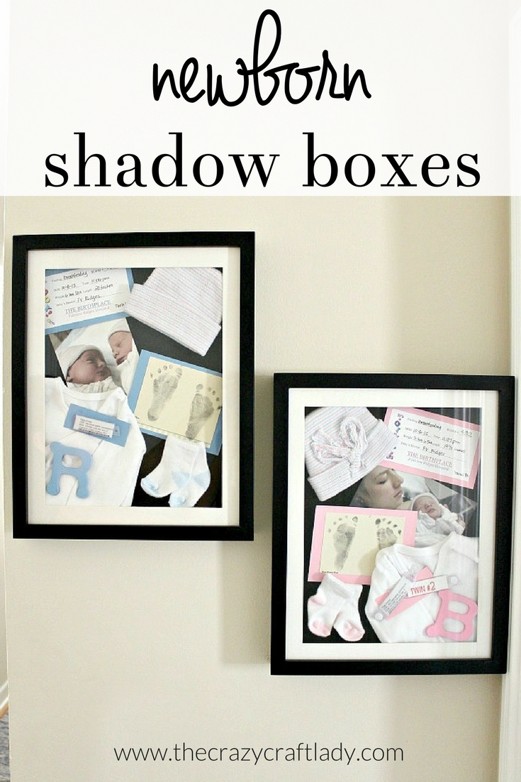 How to make newborn shadow boxes - make a personalized frame - The ...