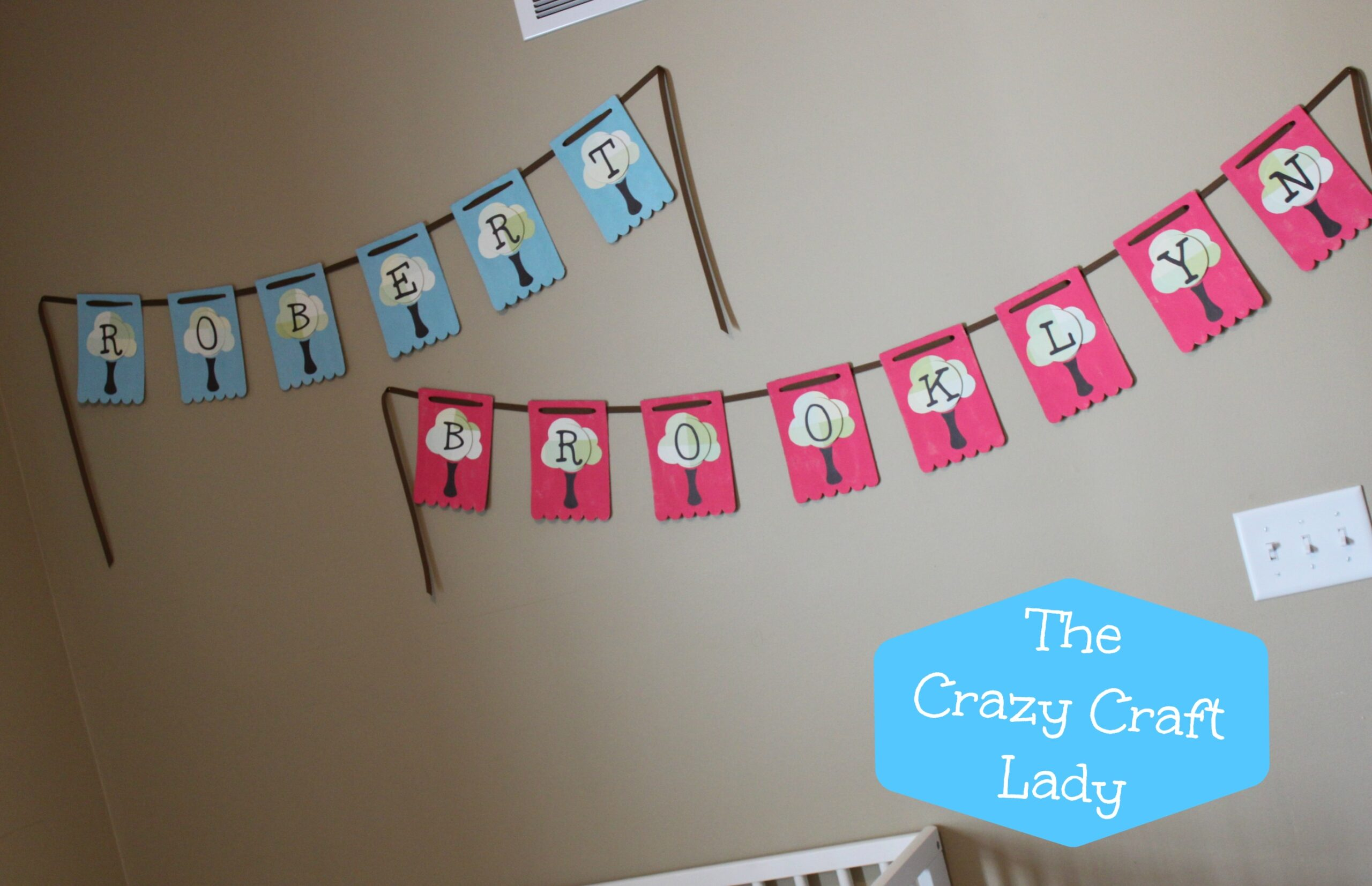baby name banners - The Crazy Craft Lady