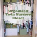 an organized twin nursery closet