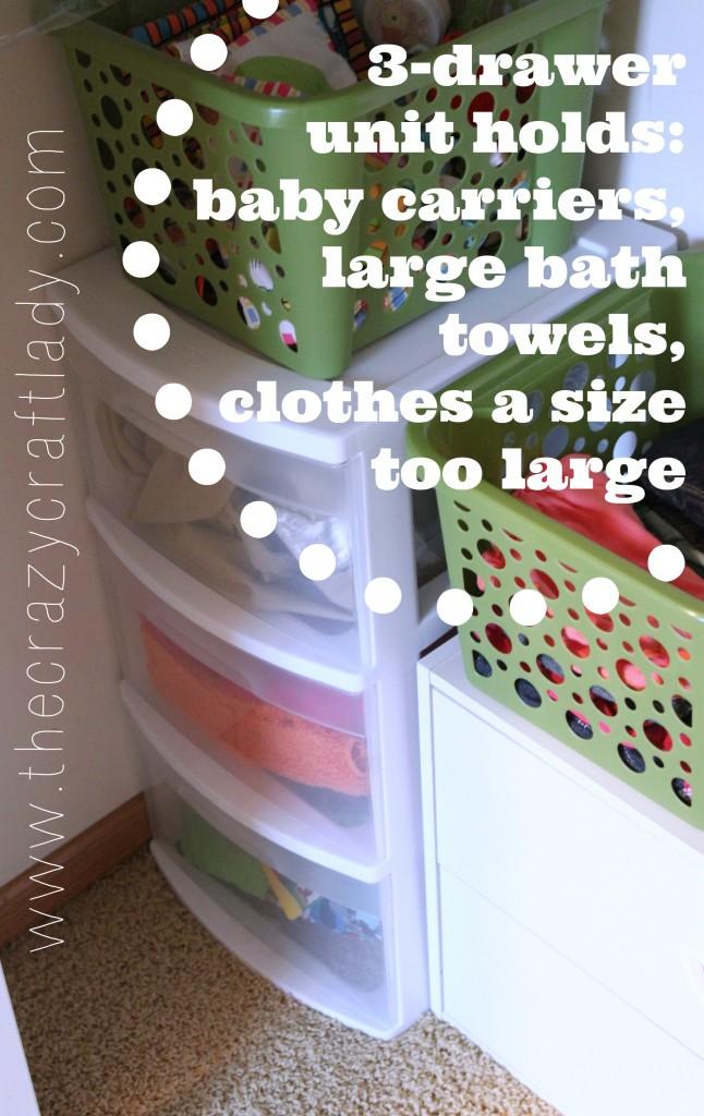 organized twin nursery closet - The Crazy Craft Lady