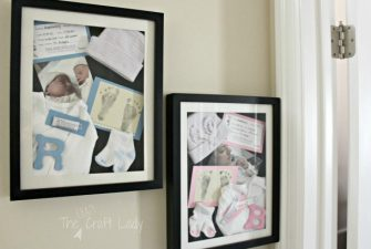 DIY Newborn Shadow Boxes – a Memorable DIY