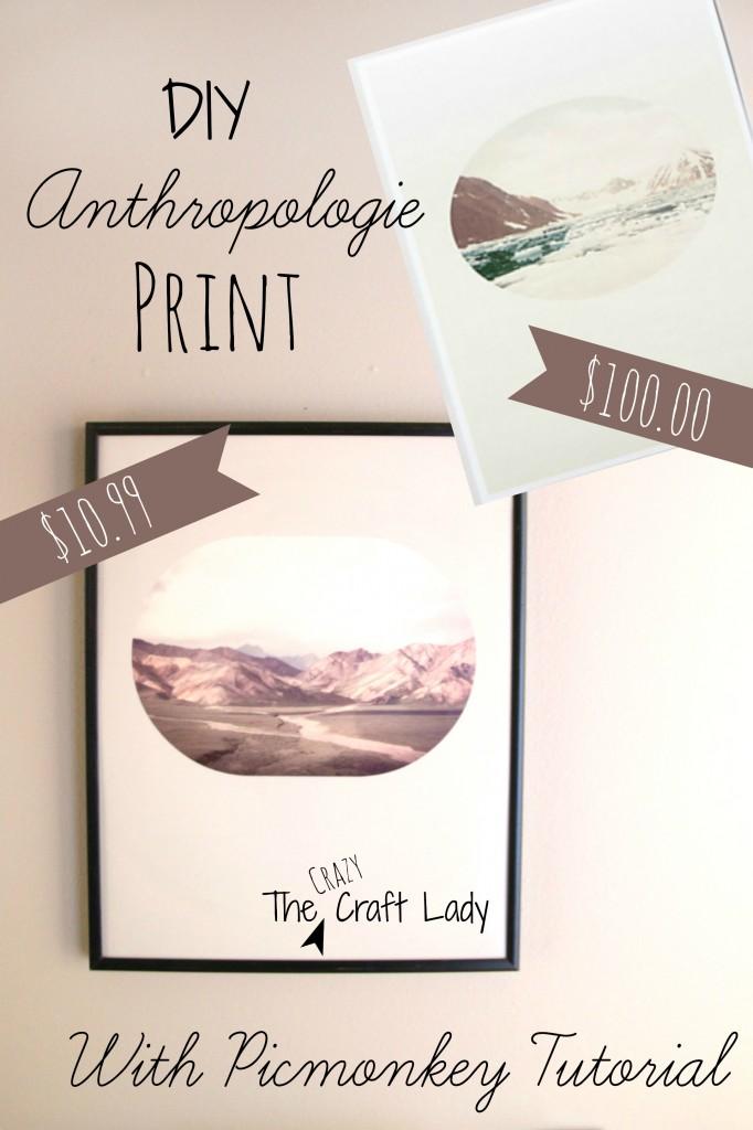 DIY Anthro Print with Picmonkey tutorial