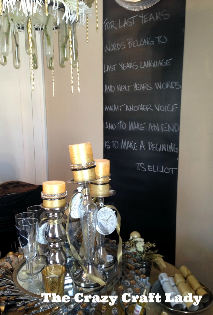 New Year's Eve Table & Quote