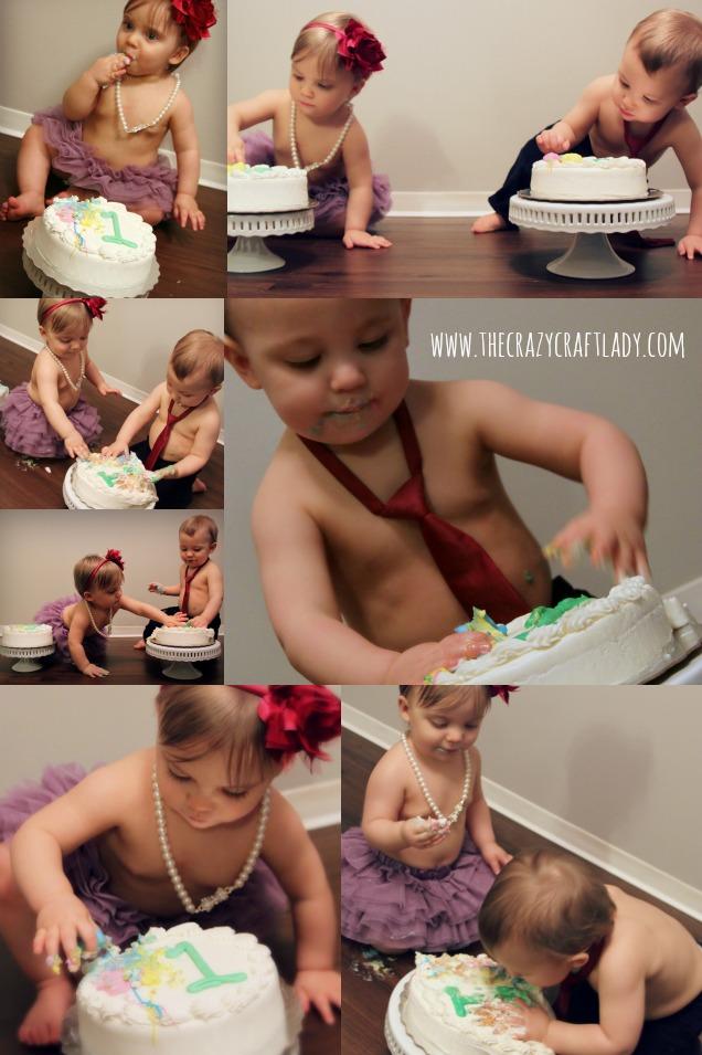 smash cake collage - The Crazy Craft Lady