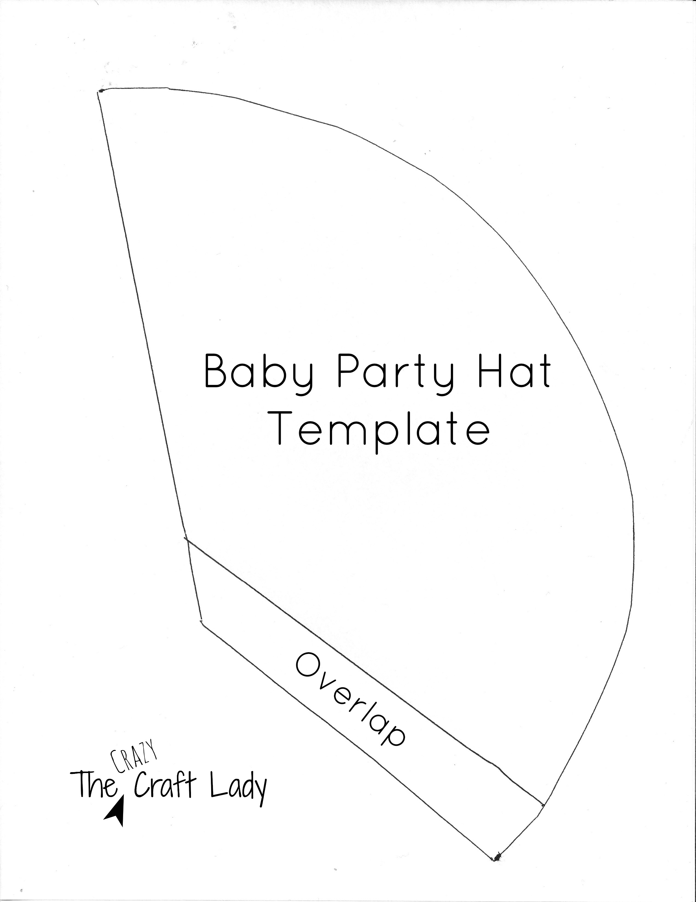Baby Party Hats and FREE Printable Template   The Crazy Craft Lady