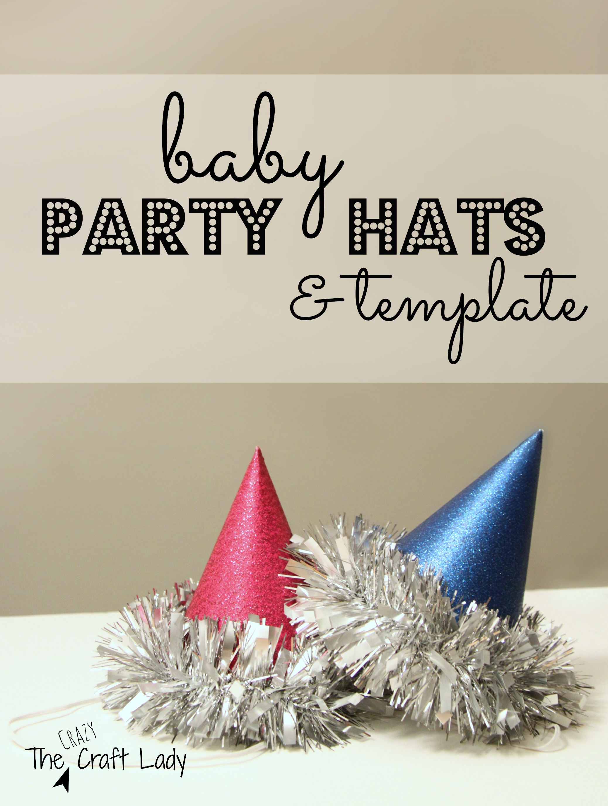 Baby Party Hats Template