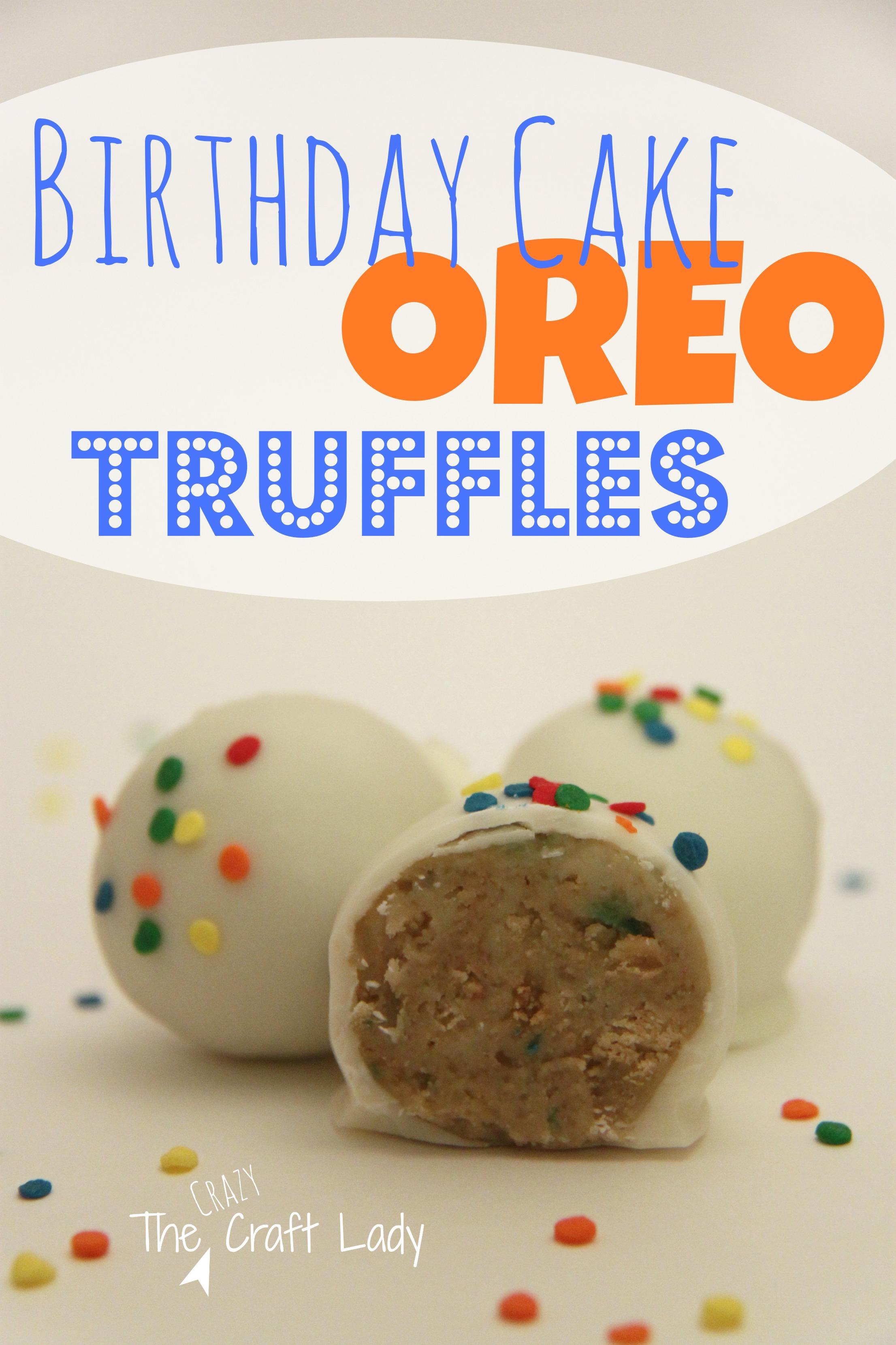 Birthday Cake Oreo Truffles 4 The Crazy Craft Lady