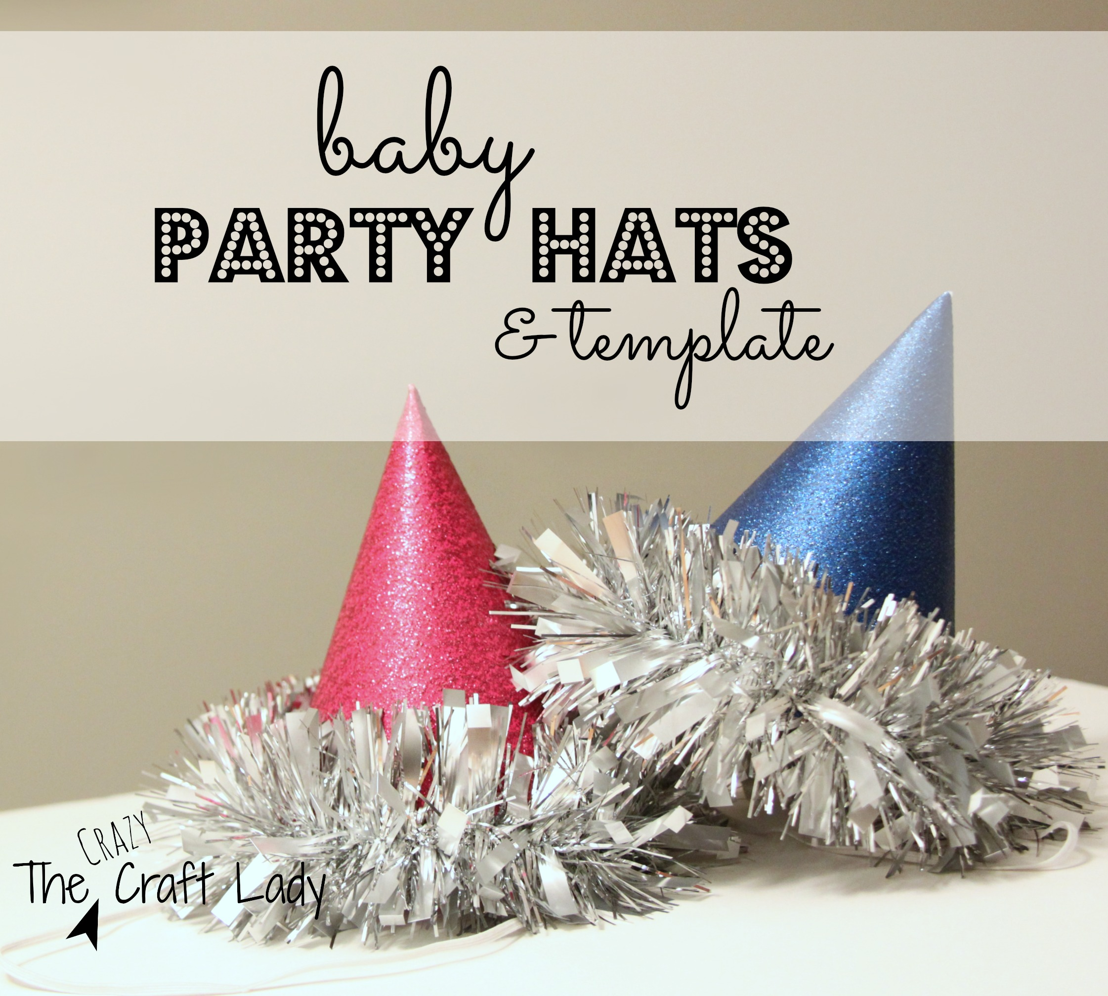 Baby Party Hats and FREE Printable Template