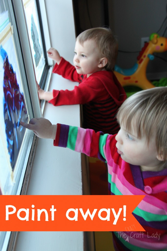 No Mess Toddler Finger Painting