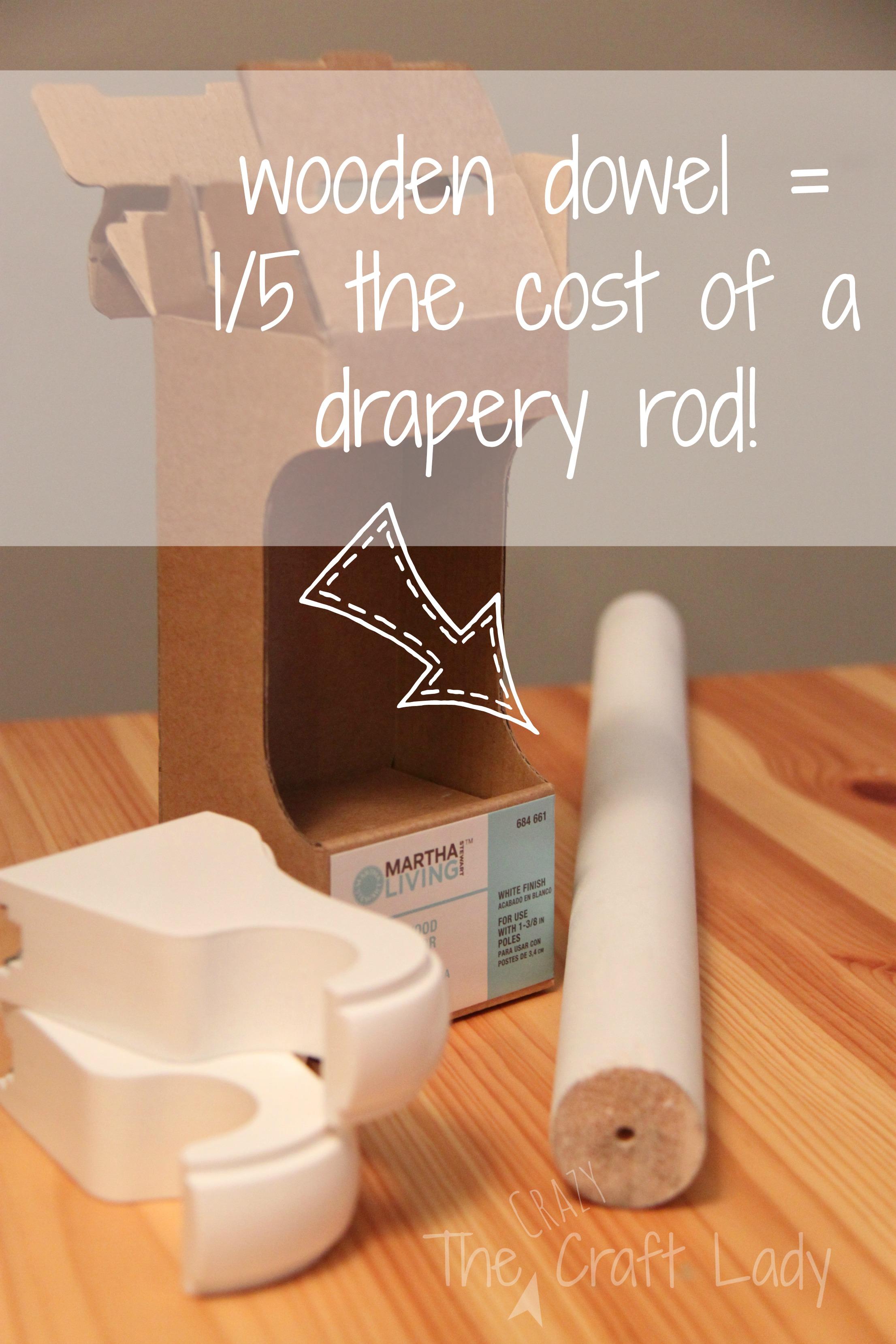 short drapery rods the crazy craft lady