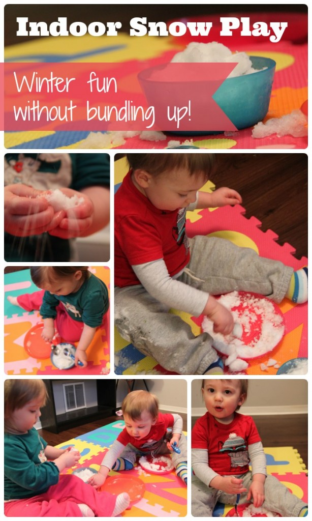 Indoor Snow Play Collage