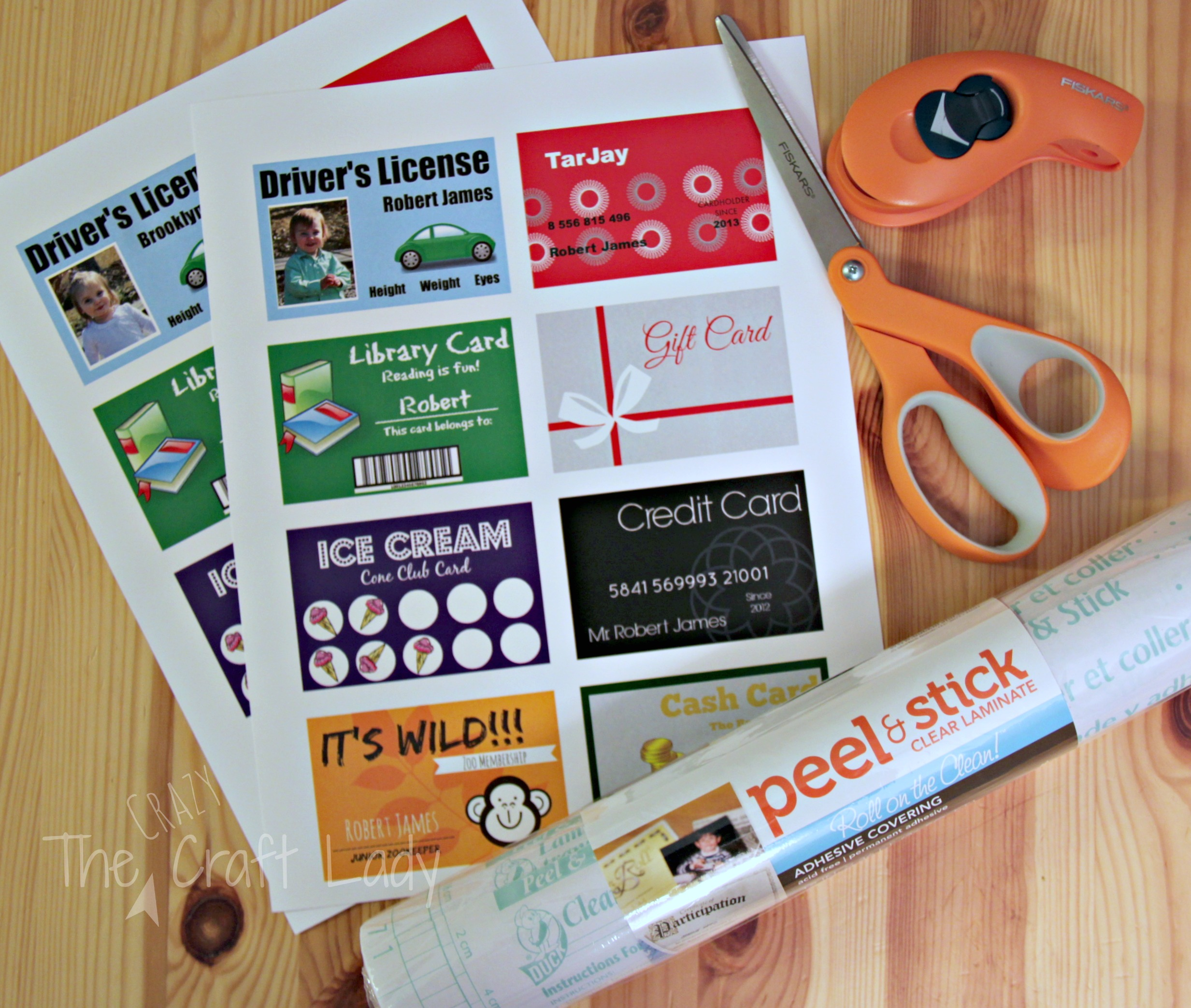 Role Play Credit Cards Debit Cards Poster: Printable (and Customizable) Play Credit Cards