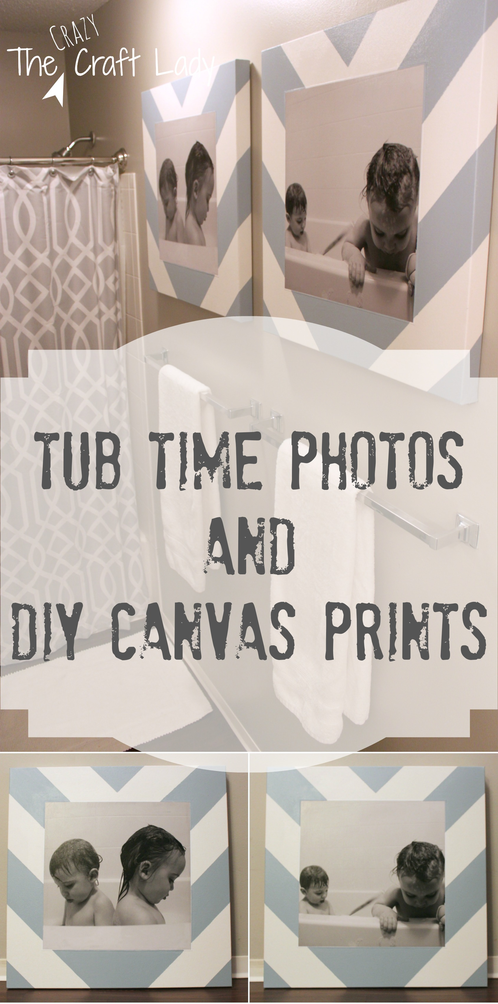 Bath time photos and diy canvas prints the crazy craft lady for Bathroom canvas painting ideas