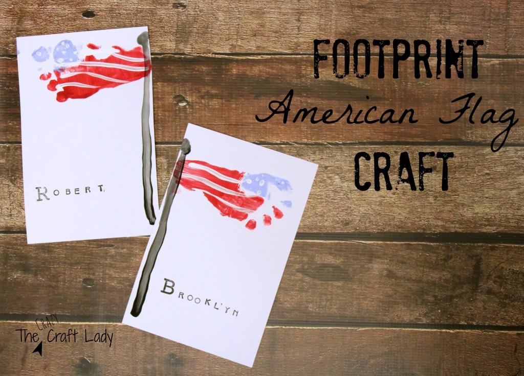 Footprint American Flag Craft