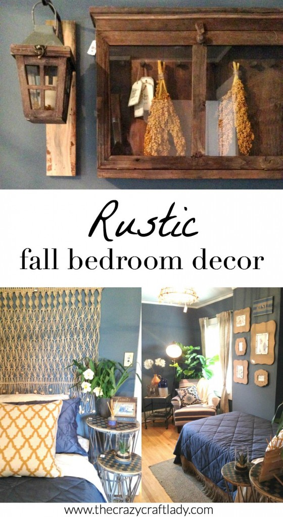 A rustic fall bedroom - filled with DIY inspiration!