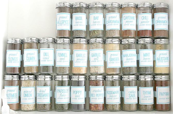 graphic relating to Free Printable Spice Labels known as Do-it-yourself Spice Jar Labels (applying Picmonkey) - The Mad Craft Female