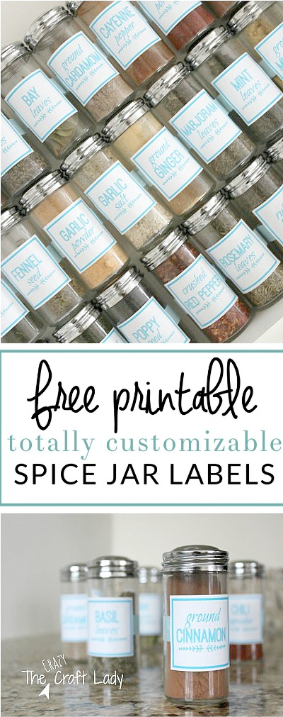 Diy Spice Jar Labels Using Picmonkey The Crazy Craft Lady