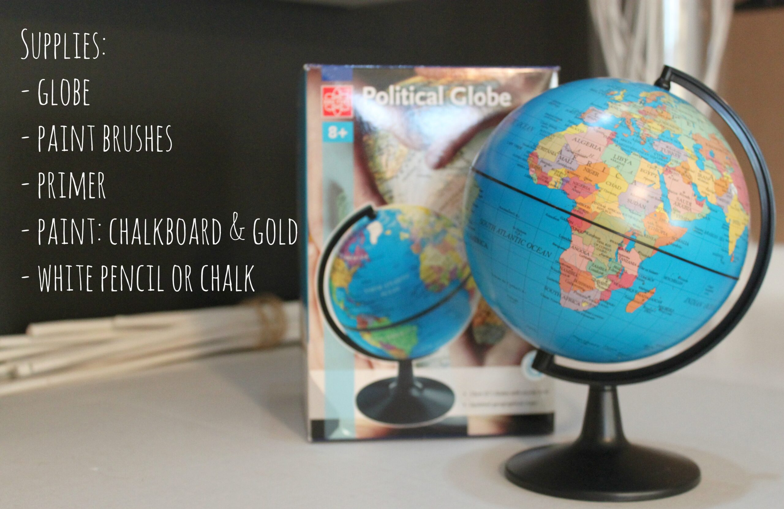 "DIY Pottery Barn-Inspired ""Joy to the World"" Globe - Instructions"