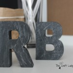DIY Soapstone Decorative Letters