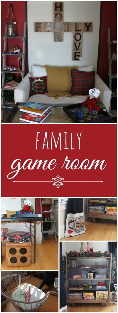 Family game room from the Winter Ideas House 2014