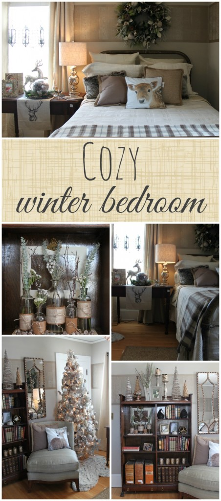 A cozy winter bedroom from the Winter Ideas House 2014