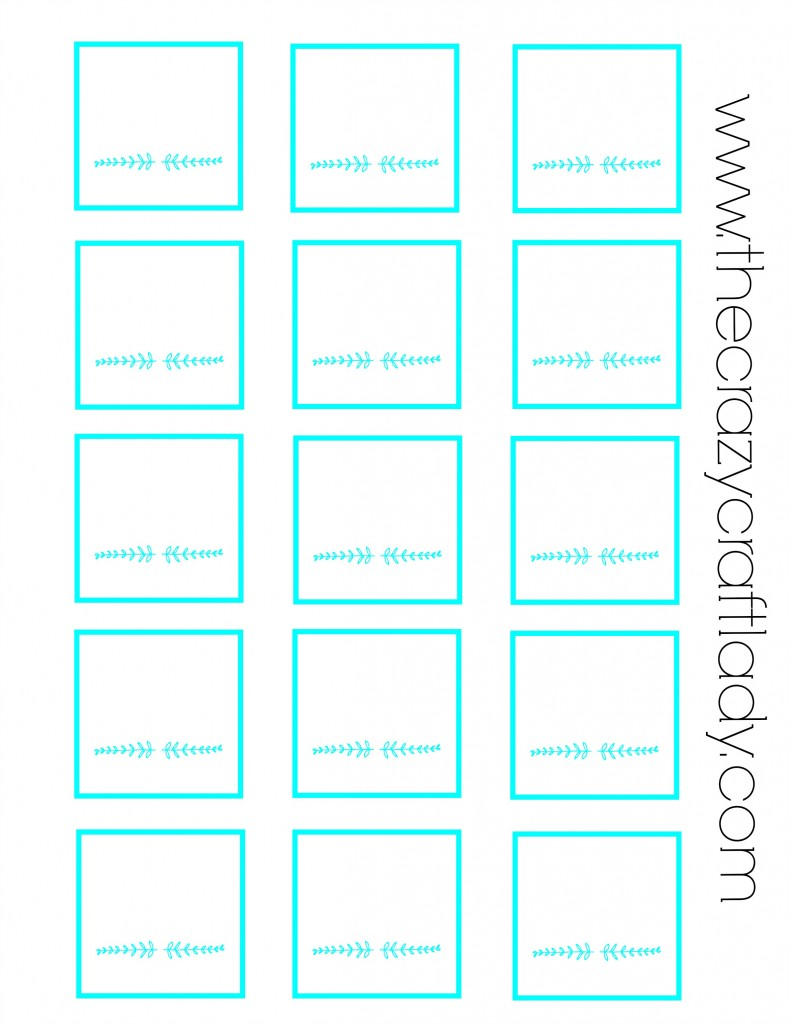 FREE Printable - blank spice jar labels