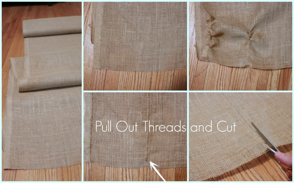 How to Cut Burlap without losing your mind