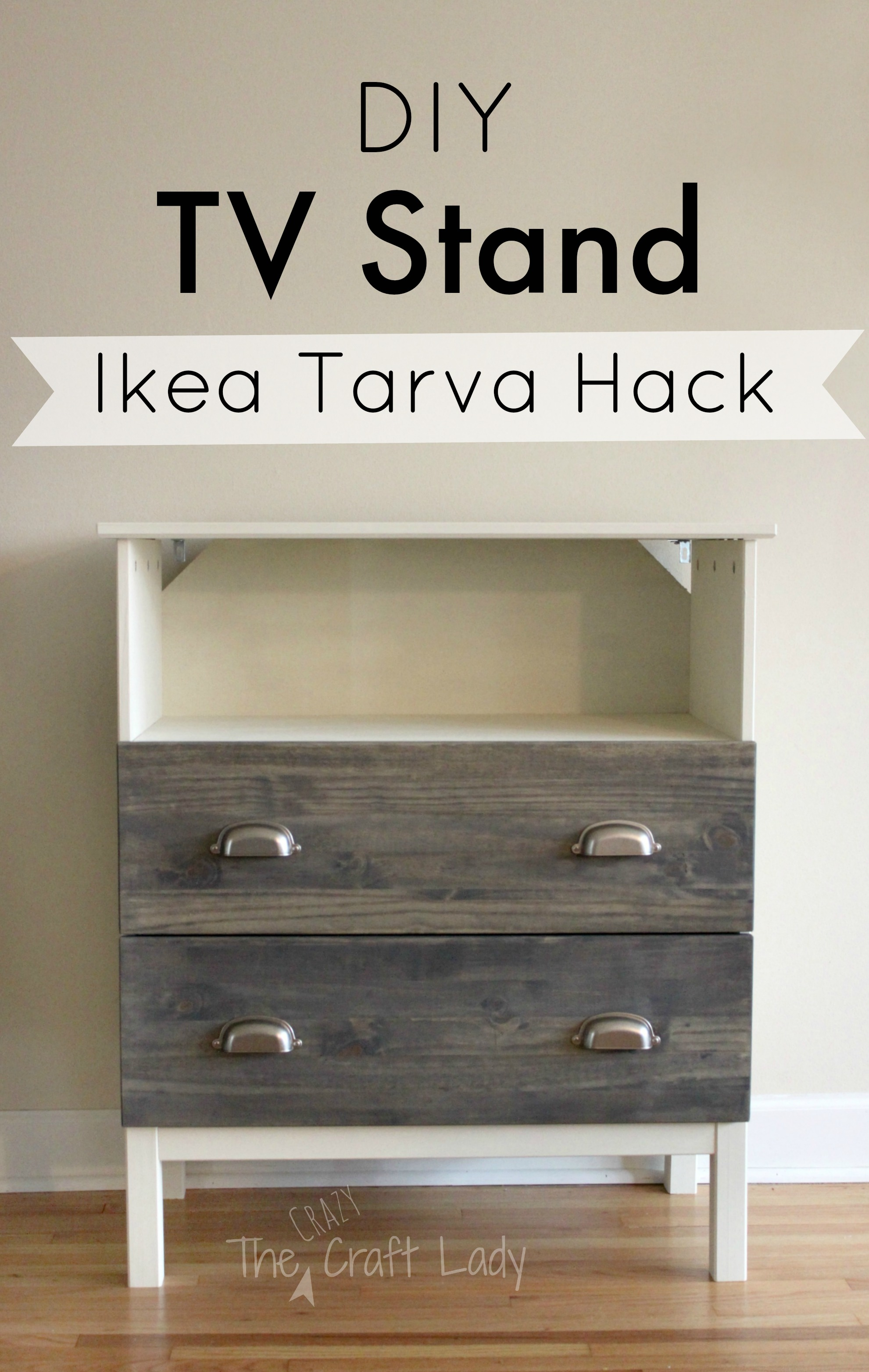 ikea tarva hack from the crazy craft lady full tutorial for making a custom tv