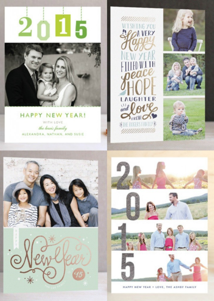 New Year Photo Cards from Minted