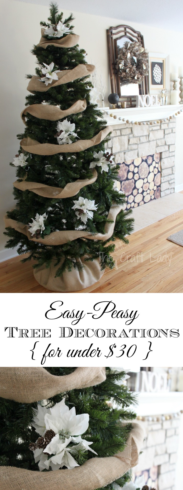 see how easy diy christmas tree decorating can be using a few simple supplies - Burlap Christmas Decorations Wholesale