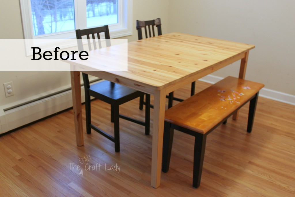 Dining Set Makeover - the before picture