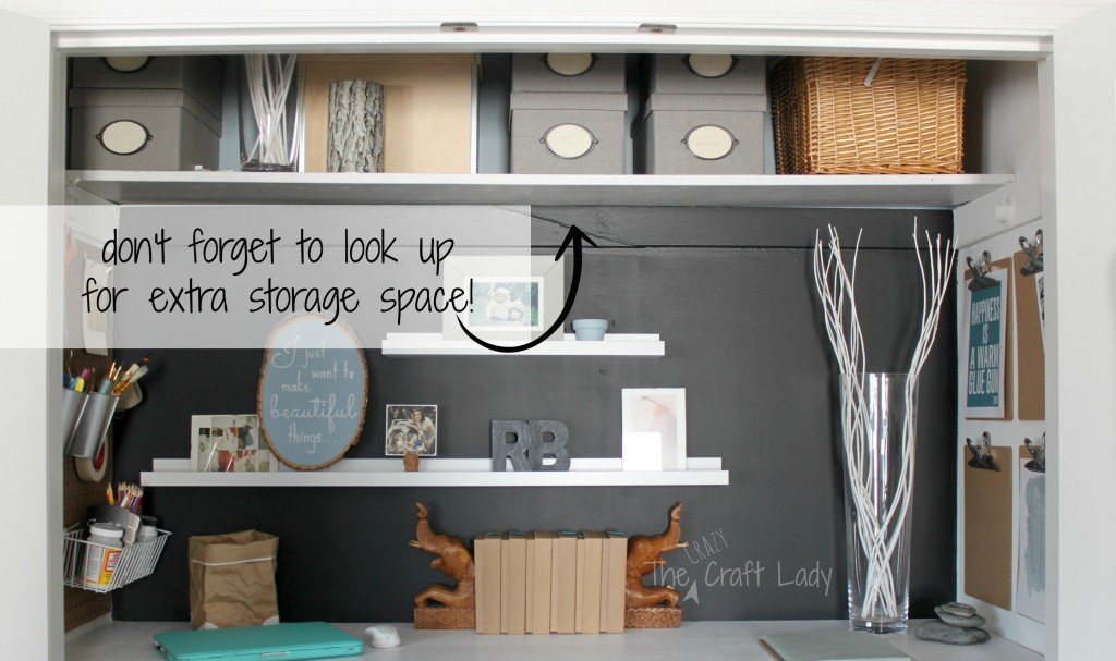 Fine Home Office In A Closet The Crazy Craft Lady Largest Home Design Picture Inspirations Pitcheantrous